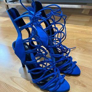 Blue Strappy Sandal